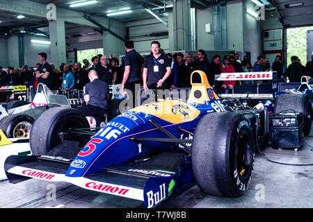 the winning Formula one car Williams FW14 during the historic Minardi Day - Stock Photo