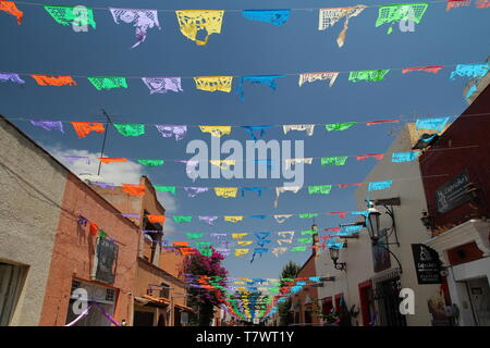 Mexican style and tradition. Holida flags. - Stock Photo