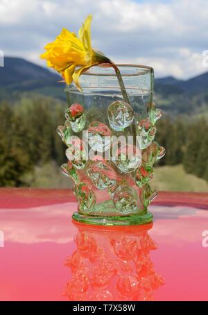 WARZENGLAS . NOPPENGLAS . NUBBY GLASS - Stock Photo