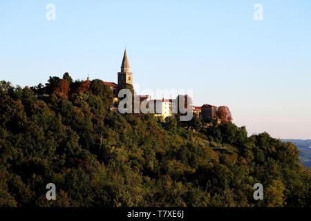 Groznjan, Istria, Croatia. - Stock Photo