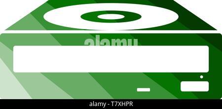 CD-ROM Icon. Flat Color Ladder Design. Vector Illustration. - Stock Photo