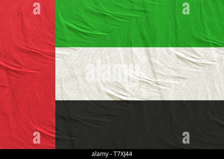 3d rendering of an United Arab Emirates flag silk - Stock Photo