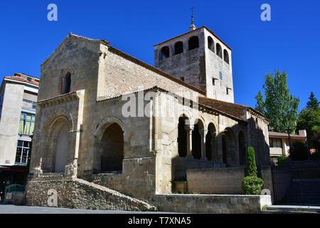 Iglesia de San Clemente, Segovia, Castilla y León, Spain - Stock Photo