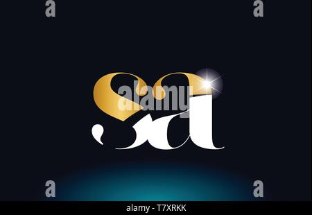 gold golden alphabet letter sa s a logo icon combination design suitable for a company or business - Stock Photo