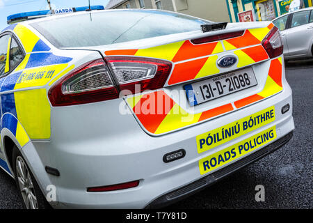 A car from Garda National Roads Policing Bureau or GNRPB. The roads policing unit of the Garda Síochána. Prior to 2018, it was known as the Garda Traf - Stock Photo