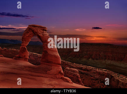 Delicate Arch in Arches National Park, Utah, U.S.A. - Stock Photo
