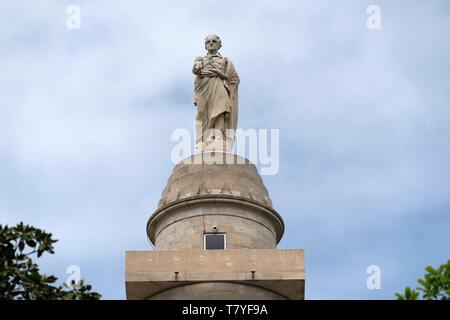 washington monument in baltimore maryland place - Stock Photo