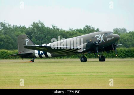 Douglas C-47 Skytrain, D-day, 1944 - Stock Photo