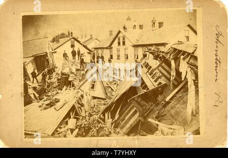 Aftermath of the Johnstown flood, May, 1889.  MP AP - Stock Photo