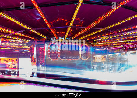 The Waltzer fairgrown ride at Kings Lynn Mart. - Stock Photo