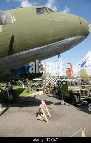 RAF Douglas Dakota, C47, D-day, 1944 - Stock Photo