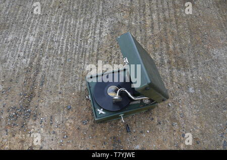 RAF Tholthorpe, gramophone in the runway - Stock Photo