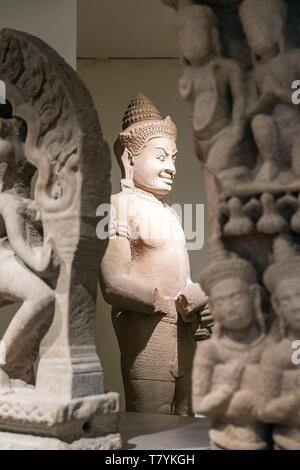 France, Paris, National Museum of Asian Arts Guimet abbreviated MNAAG - Stock Photo