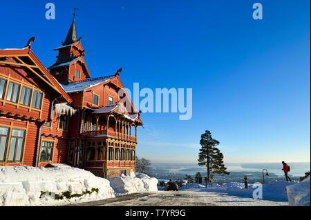 Norway, Oslo, Holmenkollen district, Hotel Scandic Holmenkollen Park - Stock Photo
