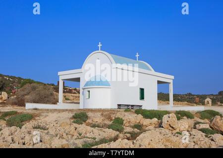 The Agioi Anargyroi church at Cape Greco, Cyprus - Stock Photo