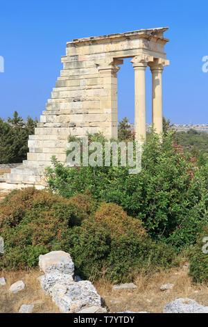 The Temple of Apollo Hylates in Kourion, Cyprus - Stock Photo