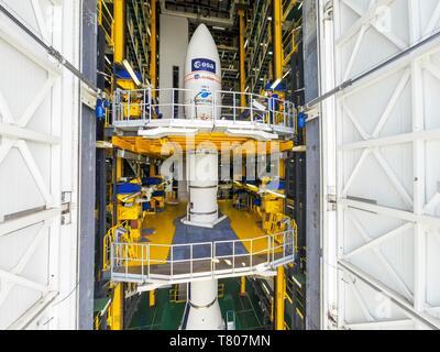 ADM-Aeolus satellite launch preparations - Stock Photo