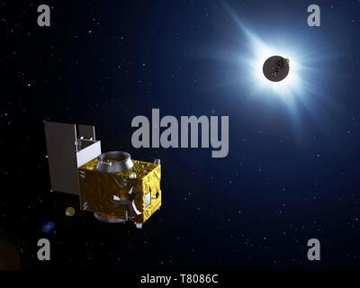 PROBA-3 satellites, artwork - Stock Photo