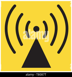 Radio Waves Symbol, Illustration - Stock Photo