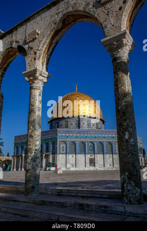 Dome of the Rock, UNESCO World Heritage Site, East Jerusalem, Israel, Middle East - Stock Photo