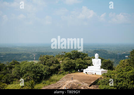 Buddha statue, Mihintale, North Central Province, Sri Lanka, Asia - Stock Photo