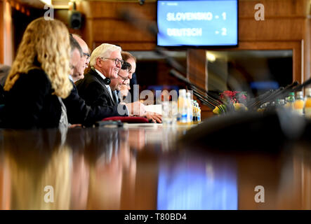 Laibach, Slovenia. 09th May, 2019. Federal President Frank-Walter Steinmeier speaks with the President of the National Assembly. The Federal President visits Slovenia for two days. Credit: Britta Pedersen/dpa-Zentralbild/dpa/Alamy Live News - Stock Photo