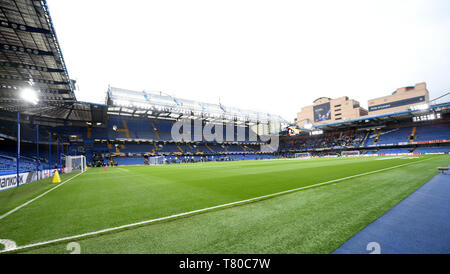 London, UK. 09th May, 2019. Soccer: Europa League, knockout round, semi-final, return match FC Chelsea - Eintracht Frankfurt at Stamford Bridge Stadium. A view into the stadium. Credit: Arne Dedert/dpa/Alamy Live News - Stock Photo