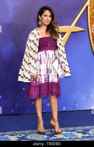 London, UK. 09th May, 2019. LONDON, UK. May 09, 2019: Preeya Kalidis at the 'Aladdin' premiere at the Odeon Luxe, Leicester Square, London. Picture: Steve Vas/Featureflash Credit: Paul Smith/Alamy Live News - Stock Photo