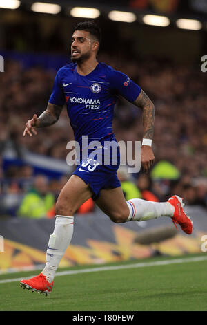 London, UK. 09th May, 2019. Emerson of Chelsea in action. UEFA Europa league match, semi- final, 2nd leg match, Chelsea v Eintracht Frankfurt at Stamford Bridge in London on Thursday 9th May 2019. this image may only be used for Editorial purposes. Editorial use only, license required for commercial use. No use in betting, games or a single club/league/player publications . pic by Steffan Bowen/Andrew Orchard sports photography/Alamy Live news Credit: Andrew Orchard sports photography/Alamy Live News - Stock Photo