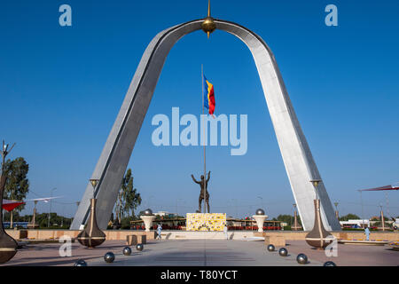 Monument of Independence, Place de la Nation, N'Djamena, Chad, Africa - Stock Photo