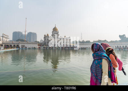 Bangla Sahib Gurudwara, New Delhi, India, Asia - Stock Photo