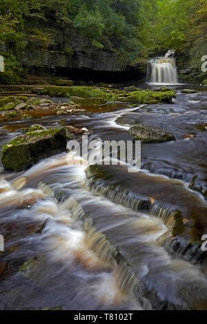 Cauldron Falls, West Burton, North Yorkshire, England, United Kingdom, Europe - Stock Photo