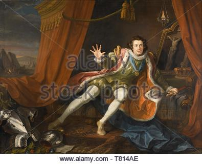 William-Hogarth-David Garrick as Richard III - Stock Photo
