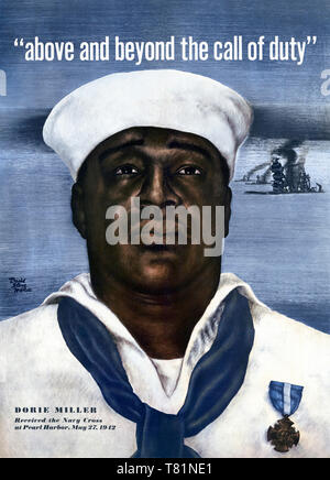 Dorie Miller, WWII American Navy Hero - Stock Photo