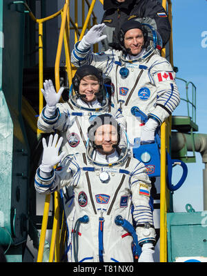Expedition 58 Crew at Launch Pad - Stock Photo