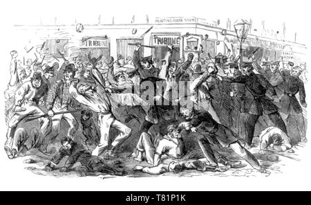 New York City Draft Riots, 1863 - Stock Photo