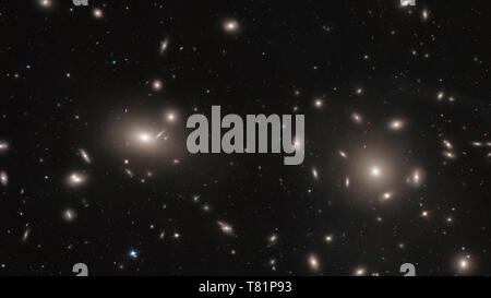 Globular Clusters within the Coma Cluster - Stock Photo