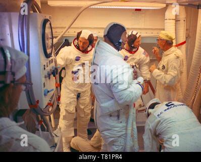 Apollo 11, Countdown Demonstration Test, 1969 - Stock Photo