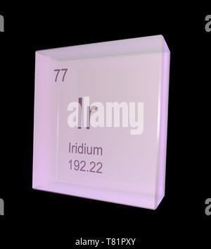 Iridium, Chemical Element Symbol, Illustration - Stock Photo