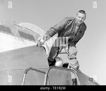 Neil Armstrong,  Bell X-14 Cockpit - Stock Photo