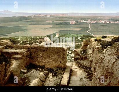 Africa, Carthage, Roman Ruins, 1899 - Stock Photo