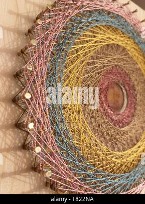string art mandala design string art mandala design - Stock Photo