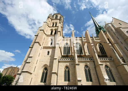 Beautiful Cathedral of Saint Benigne in Dijon, Burgundy, France - Stock Photo