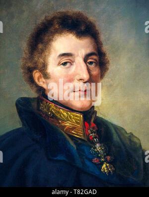 1st Duke of Wellington, portrait painting (detail) by Peter Edward Stroehling, 1820 - Stock Photo