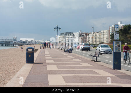 Clarence esplanade, Southsea, Hampshire - Stock Photo