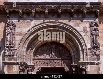 St Sever de Rustan,Romanesque Abbey of 1028 AD.Dept Hautes-Pyrenees.Southwest France. - Stock Photo
