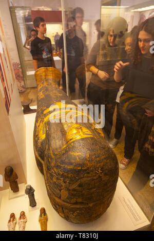 Salas del Antiguo Egipto, Museo Arqueológico Nacional, Atenas, Grecia - Stock Photo