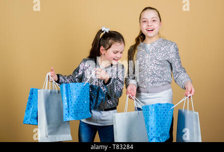 6e8c92e15eee8 Children hold bunch packages. Kids fashion. Expect more. Pay less. Girls  sisters
