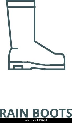 Rain boots vector line icon, linear concept, outline sign, symbol - Stock Photo