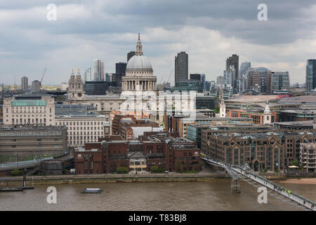Ariel view of St Pauls Cathedral in London, England.